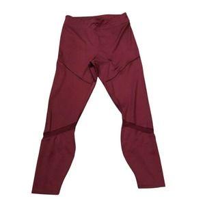 Fabletics Maroon Leggings Medium Mesh Pockets